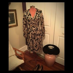 Donna Ricco silk wrap dress